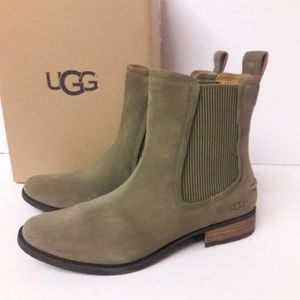 5061bad56b1 UGG Shoes | Womens Cove Brown Leather Shearling Ankle Boot | Poshmark
